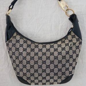 """GUCCI Bk Signature """"GG""""s shoulder handbag ITALY"""